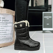 Large Size Waterproof Fur Lining Hidden Heel Warm Snow Boots