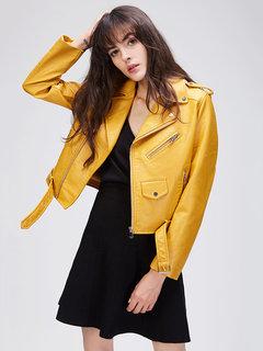 JAZZEVAR Уличные карманные кожаные куртки для локомотивов для женщин