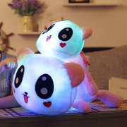 Colorful Led Pillow Glowing Panda Plush Cushion Doll Luminous Toys Birthday Gift for Girls