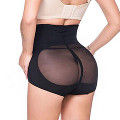High Waist Tummy Control Front Closure Mesh Panties