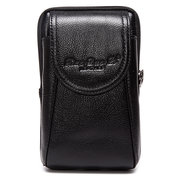 6'' Universal Genuine Leather Smartphone Bag Waist Bag Men Card Bag Cellphone Bag Crossbody Bag