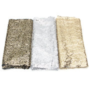 30*200cm Rectangular Gold Silver Sequin Tablecloth Wedding Party Banquet Table Decoration