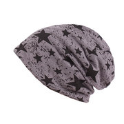 Men Breathable Cotton Skullies Beanie Hat Casual Five-Pointed Star Hedging Cap