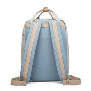 Женщины Холст Сшивание Цвет Студенческая сумка Сумка для ноутбука Сумка для отдыха Backpack Travel Bag