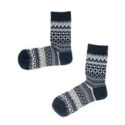 Mens Cotton Thickening Double Needle Middle Tube Socks Retro Ethnic Style High Ankle Socks