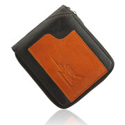 Men Casual Genuine Leather Short Wallet Cash Cards Coins Bags