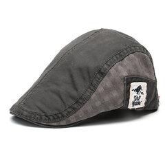Мужчины Женское Хлопковая вышивка Беретная шапка Регулируемая Повседневная Вперед Пик Шапка