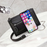Women Leisure Waist Bag Solid PU Leather Chest Bag