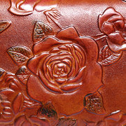 Brenice Vintage Casual Floral Genuine Leather Card Holder Coin Purse Wallet For Women