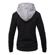 Mens Herbst Winter Stitching Farbe Casual Zip Up Langarm Hoodies