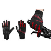 Mens Womens Warm Thick Windproof Touch Screen Fleece Cycling Gloves Full Finger Ski Gloves