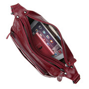Women Genuine Leather Multi-pockets Crossbody Bag
