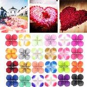 1000шт шелковая роза праздник искусственные лепестки обручальное конфетти цветок Свадебное украшения
