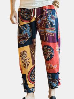 Pantalón étnico estampado