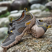 Men Mesh Fabric Breathable Non Slip Quick Drying Hiking Sneakers Water Shoes