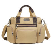 Canvas Business Casual Travel Laptop Bag Large Capacity Multi-pocket Handbag Crossbody Bag