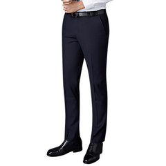 Mens Spring Summer Flat Front Dress Pants Straight Slim Fit Business Casaul Suit Pants