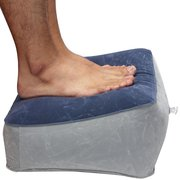 Inflatable Folding Travel Pillow Foot Rest Helps Reduce DVT Risk On Flights