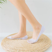 Women Cotton Lace Anti-skid Invisible Liner Socks Elastic Comfy Female Summer Spring Ankle Socks