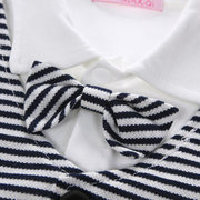 2pcs White Baby Boy Formal Suit Style Romper with Jacket For 0-24M