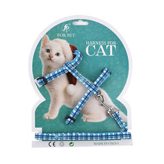 Cartoon Printing Cat Leash Nylon Material I-Word Back Cat Rope Chest Strap Pet Supplies