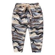Камуфляж Спортивный стиль для мальчиков Jogger Брюки Детские длинные брюки для 2Y-9Y