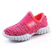 Unisex Kids Mesh Breathable Hook Loop Comfy Casual Shoes For Youth Kids