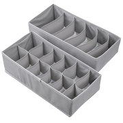 2Pcs Foldable Underwear Socks Storage Box