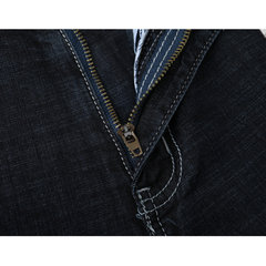 Plus Size Casual Washed Short Jeans For Men