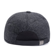 Men Winter Warm Cotton Leather Hat Keep Ear Warm Vogue Vintage Outdoor Casual Snow Baseball Cap