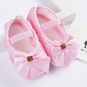 Flor / Bowknot Girls Shoes Soft Primer Caminante Para 0-24M