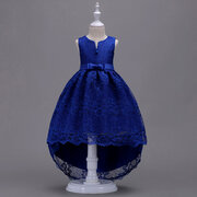 Girl's Formal Dress Lace Flower Trailing Dress For 4-15Years