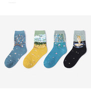 Mens Cotton Breathable Pattern Funny Ankle Socks Casual Warm Shallow Mouth Absorb Sweat Socks