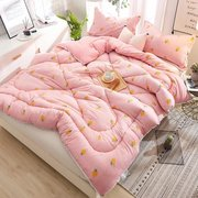 Washed Cotton Feather Fabric Stuffed Quilt Duvet Winter Full Queen King Size Comforter