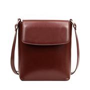 Donne Olio Retro borse a tracolla cerata piccole borse a tracolla solido di grande capacità del telefono