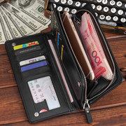 Femmes Loisirs Affaires Zipper Buckle 11 Fente Pour Carte Portefeuille Multifonction Embrayage Téléphone Sac
