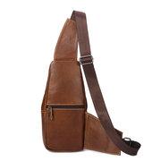 Genuine Leather Chest Bag Sling Bag Single-shoulder Crossbody Bag For Men