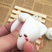 Kawaii Squishy Toys Mushroom Cat Kawaii Cartoon Cute Face Decor Bag Cellphone Straps