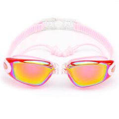 Anti-UV Anti-fog Waterproof HD Silicone Earplugs Occhialini da nuoto piatti con Scatola