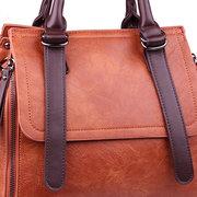 Elegante PU-Leder Reißverschluss Schulter Taschen Crossbody Taschen Handtasche für Damen