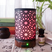 3D LED Light Kaleidoscope Pattern Aroma Diffuser Mist Humidifier Essential Oil Aromatherapy Home De