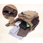 Men Canvas Multifunctional Casual Shoulder Bag Outdoor Travel Sports Crossbody Bags