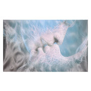 Blue Love Kiss Art abstrait sur toile peinture murale Art photo impression