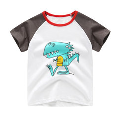 Boy's Cartoon Cotton Short-Sleeved T-shirt For 1-9Y