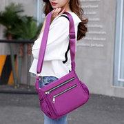Sacs bandoulière imperméable multi-poches de nylon de femmes impriment des sacs d'épaule de fleur