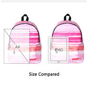 Women Casual Polyester Backpack Starry Sky Travel School Bag
