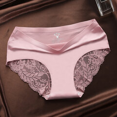 Lace Seamless Cotton Crotch Soft Mid Rise Panties