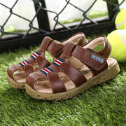 Boys Soft Leather Breathable Hiking Beach Sandals