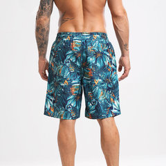 Paar Board Shorts schnell trocknende Pflanzen drucken atmungsaktiv Hawaii Holiday Beach Short