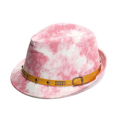 Men Summer Graffiti Jazz Hat Casual Beach Hat Cowboy Button Hip-hop Cap